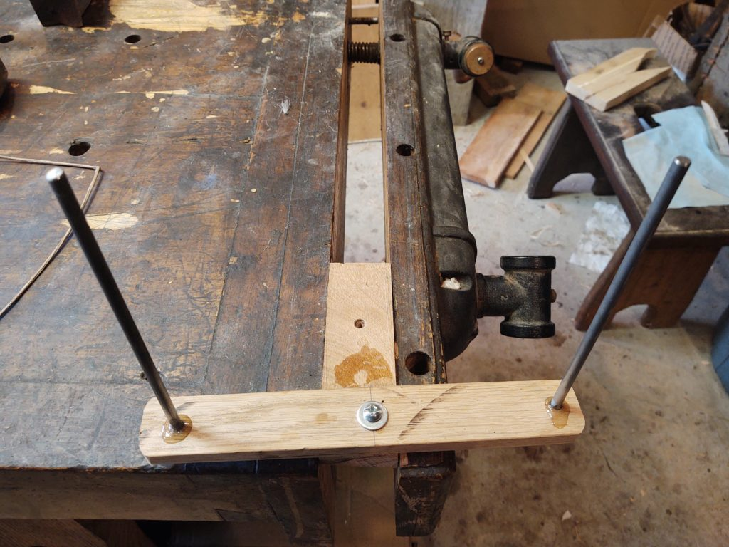 jig for making bow strings 1