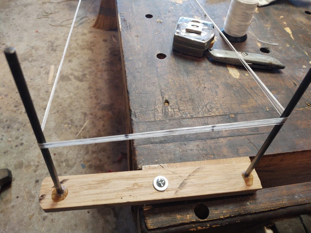 jig for making bow strings